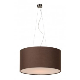 Κρεμαστό Φωτιστικό LUCIDE CORAL PENDANT COTTON E27 D40/H20 BROWN