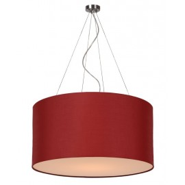 Κρεμαστό Φωτιστικό LUCIDE CORAL PENDANT COTTON E27 D60/H30 DARK RED