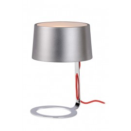Επιτραπέζιο Φωτιστικό LUCIDE AIKO TABLE LAMP E14 D22 H33cm SILVER GREY/CHR